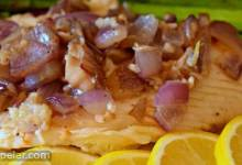 Pan-Grilled Tilapia with Lemon and Red Onion