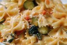 pasta primavera with talian turkey sausage