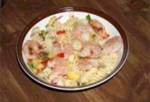 Pasta with Grilled Shrimp and Pineapple Salsa