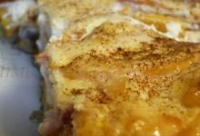 peach and cream cheese torte