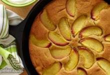 Peach Skillet Cake with Sorghum Flour