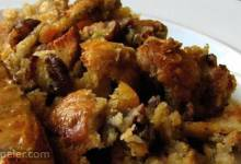 Pecan and Apricot Sourdough Bread Stuffing