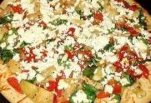 Pepper, Onion & Feta Pizza