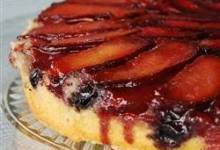 plum blueberry upside down cake