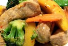 Pork with Peaches Stir-Fry