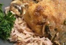 Port And Mushroom Sauce Chicken