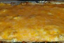 Potato, Cheese, and Kielbasa Casserole