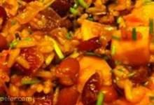 Pumpkin and Cranberries with Rice