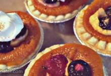 Pumpkin Pie Triple Berry Tarties