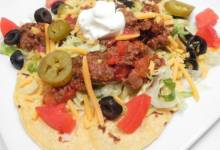 quick and easy beef and pork tacos