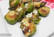 Quick and Easy Pan-Roasted Brussels Sprouts with Gorgonzola Cheese