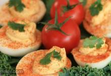 Quick Salmon Deviled Eggs