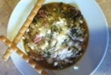 quinoa, chicken sausage, and white bean stew