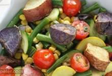 Rainbow Roasted Potato Salad