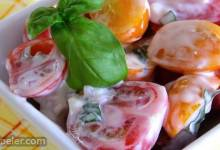 Red and Yellow Cherry Tomato Salad