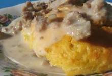 Restaurant Style Sausage Gravy and Biscuits