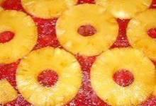 rhubarb pineapple upside-down cake