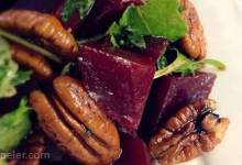 Roasted Beet, Arugula, and Walnut Salad