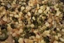 roasted corn and poblanos