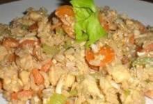 Roasted Garlic Teriyaki Fried Rice with Chicken