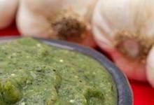 Roasted Tomatillo and Garlic Salsa