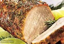 Rosemary and Garlic Smoked Pork Roast