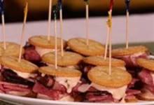 RTZ Pastrami and Corned Beef Mini Sandwich, created by Carnegie Deli