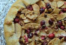 rustic fall fruit tart