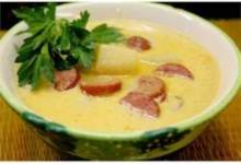 Sausage 'n Stout Cheese Soup