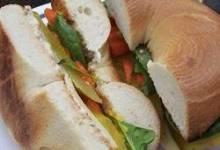 school lunch bagel sandwich