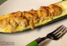 Seafood Stuffed Zucchini