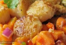 Seared Scallops with Spicy Papaya Sauce