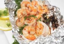 shrimp in foil