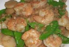 Shrimp with Ginger and Snow Peas
