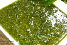 Simple Garlic and Basil Pesto