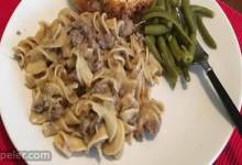Simple Ground Beef Stroganoff