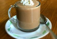 simple molten ced chocolate latte