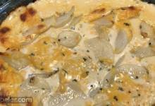 Simple Scalloped Potatoes with Ham