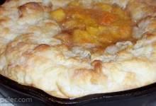 Skillet Peach Pie