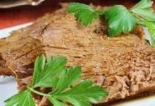 Slow Cooker Au Jus Pot Roast