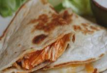 slow cooker chicken quesadillas