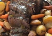 Slow Cooker Eye of Round Roast With Vegetables