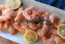 sous vide lemon-butter shrimp