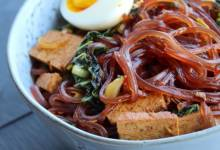 spicy asian cellophane noodle salad