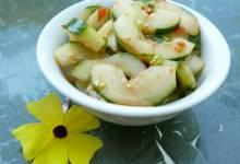 spicy korean red pepper cucumbers