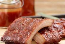 Spicy Smoked Back Ribs with Maple Glaze