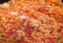 spicy veggie and white bean quinoa