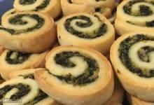spinach and mushroom pinwheels