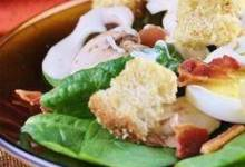 Spinach, Bacon, and Mushroom Salad