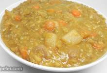 Split Pea Soup with Homemade Ham Bone Stock